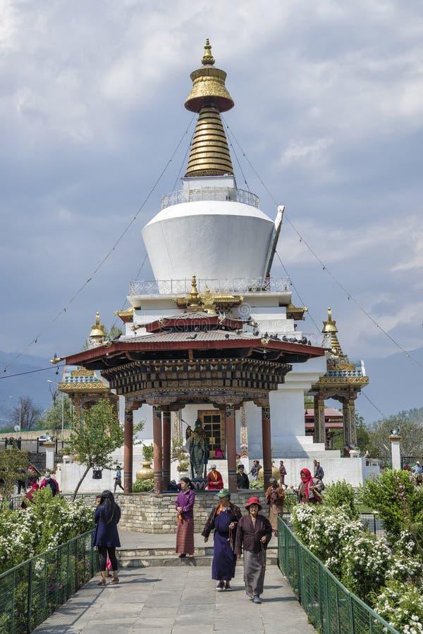 Das nationale Erinnerungs-Chorten gelegen in Thimphu, die Hauptstadt von Bhutan stockbild