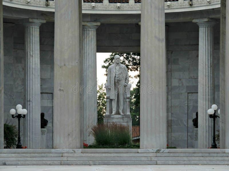 Das nationale McKinley-Geburtsort-Denkmal in Niles Ohio lizenzfreies stockbild