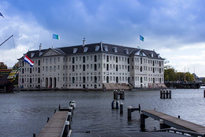 Das nationale Seemuseum Amsterdam lizenzfreie stockfotos