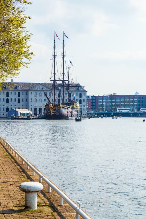 Das nationale Seemuseum von Amsterdam, die Niederlande stockfotografie