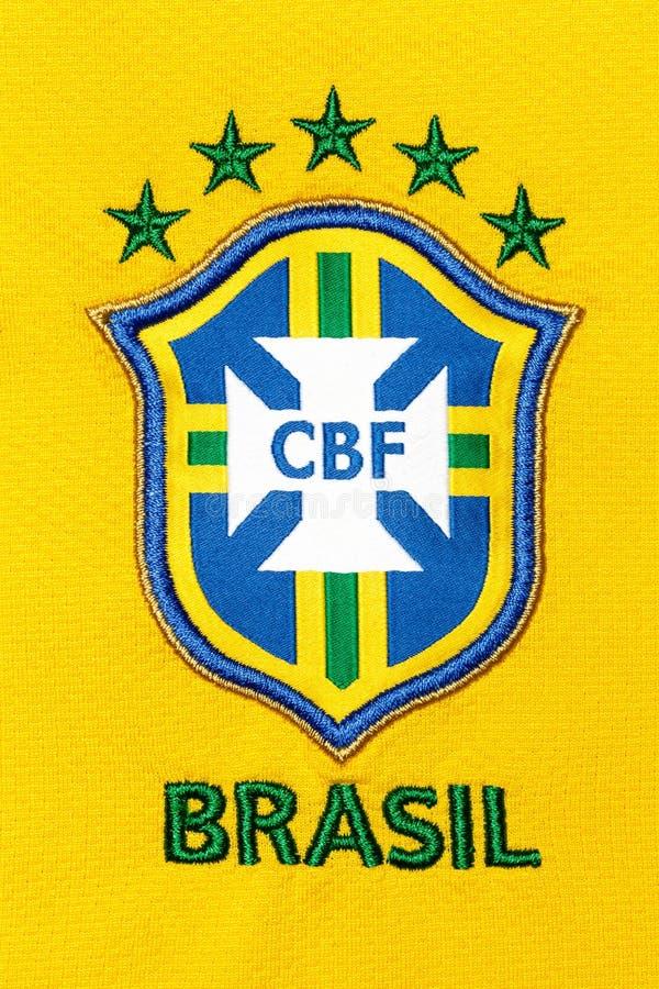 Das nationale Sonderzeichen des brasilianischen nationalen Fußballteams lizenzfreie stockfotos