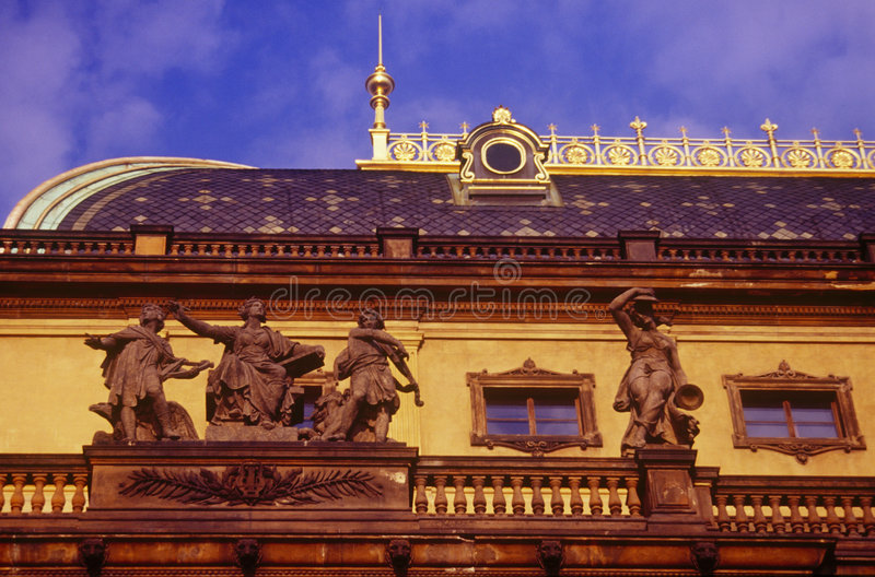 Das Nationaltheater in Prag stockfoto
