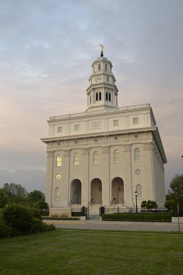 Das Nauvoo, Tempel Illinois LDS stockbilder