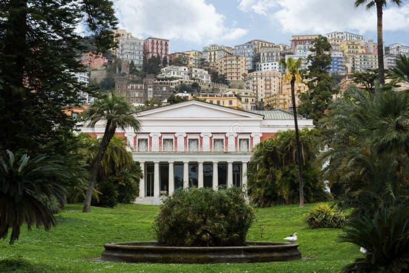 Das neoklassische Landhaus Pignatelli in Riviera di Chiaia, Neapel, Italien stockbilder