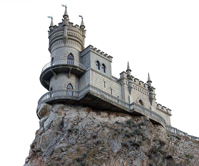 Das Nest der Schloss-Schwalbe nahe Jalta stockfotografie