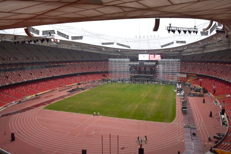 Das Nest des Vogels, Nationalstadion, Peking, China stockfoto
