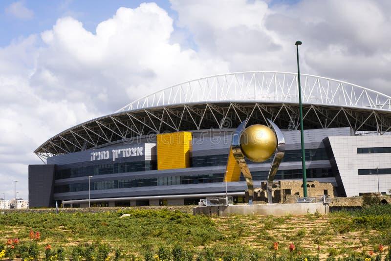 Das neue Natanya Fußballstadion lizenzfreies stockfoto