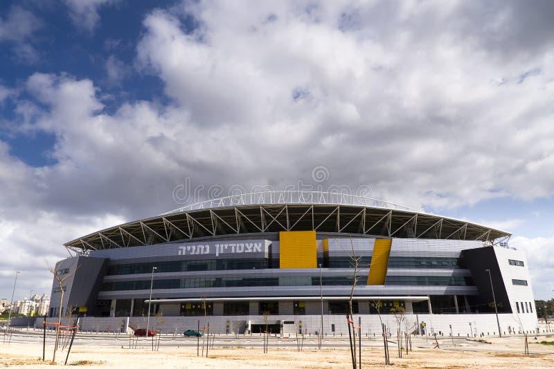 Das neue Natanya Fußballstadion lizenzfreie stockfotos