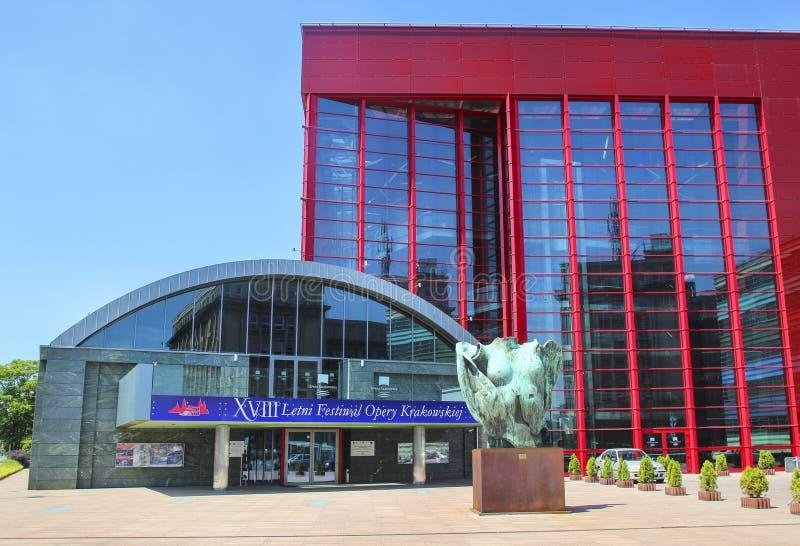 Das neue Opernhaus in Krakau, Polen stockfotos
