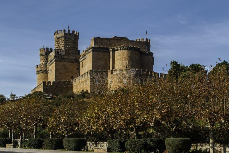 Das neue Schloss von Manzanares el Real stockbild
