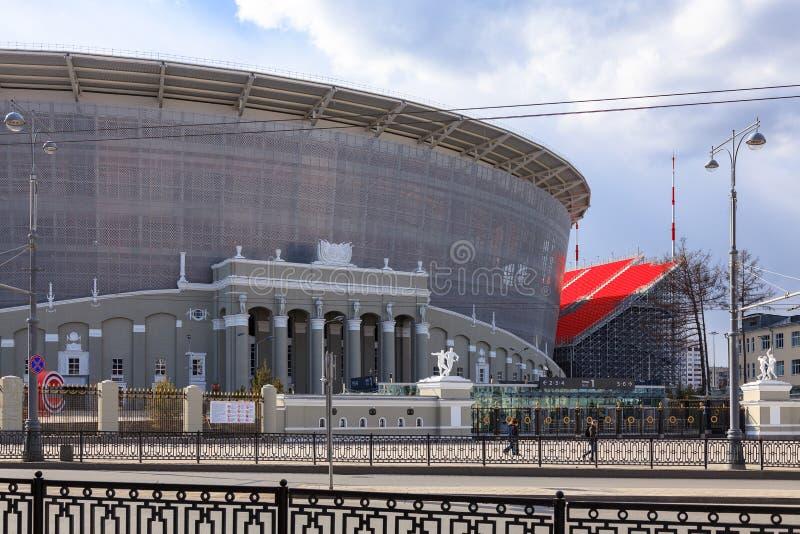 Das neue Stadion für den Weltmeisterschafts-Fußballfußball 2018 stockfotografie