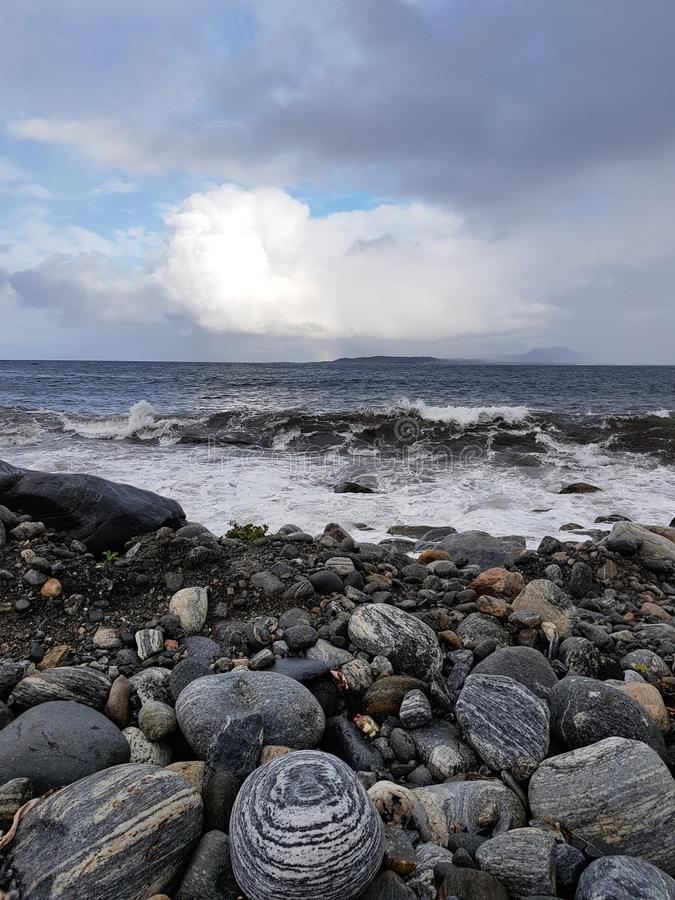Das norwegische Meer stockfoto