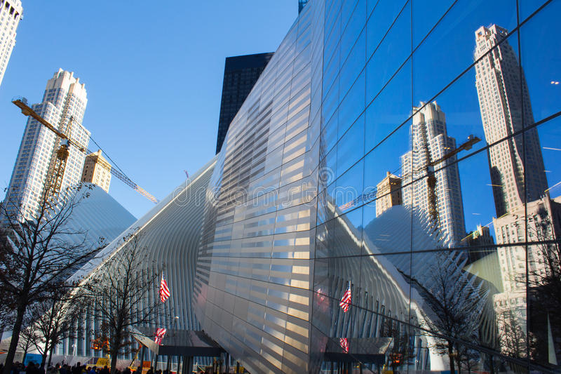 Das Oculus von einem World Trade Center New York stockbild