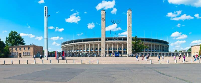 Das Olympiastadion in Berlin stockbild