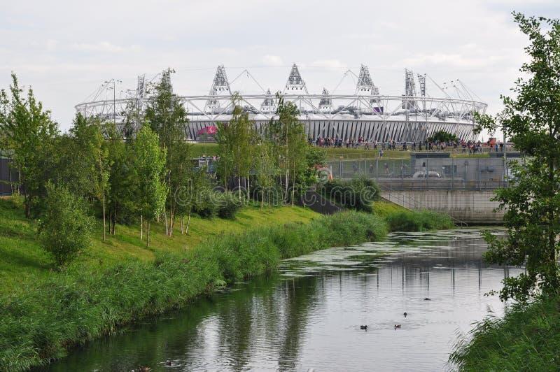 Das Olympische Stadion, Olympischer Park, London Redaktionelles Bild