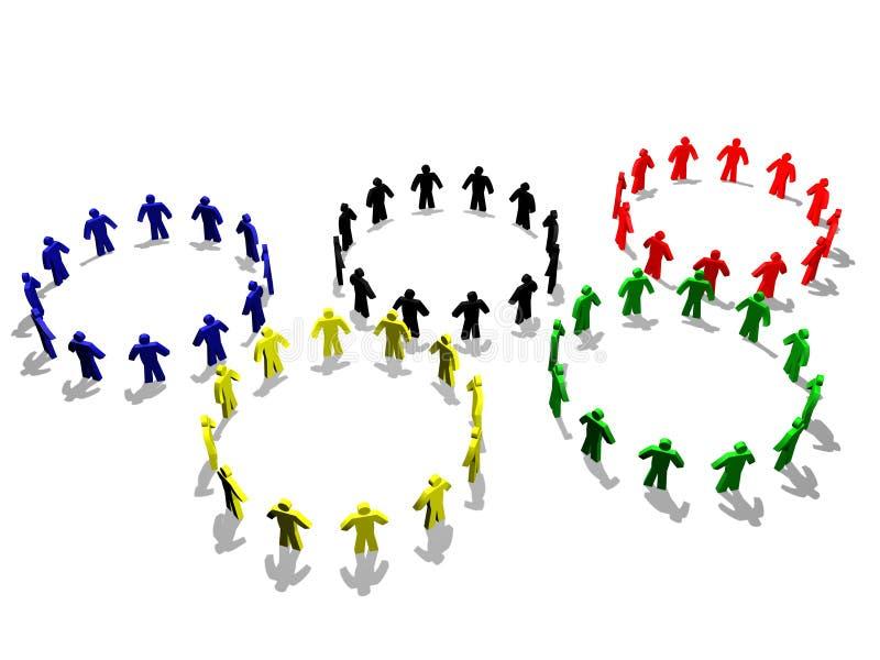 Das olympische Symbol lizenzfreie abbildung