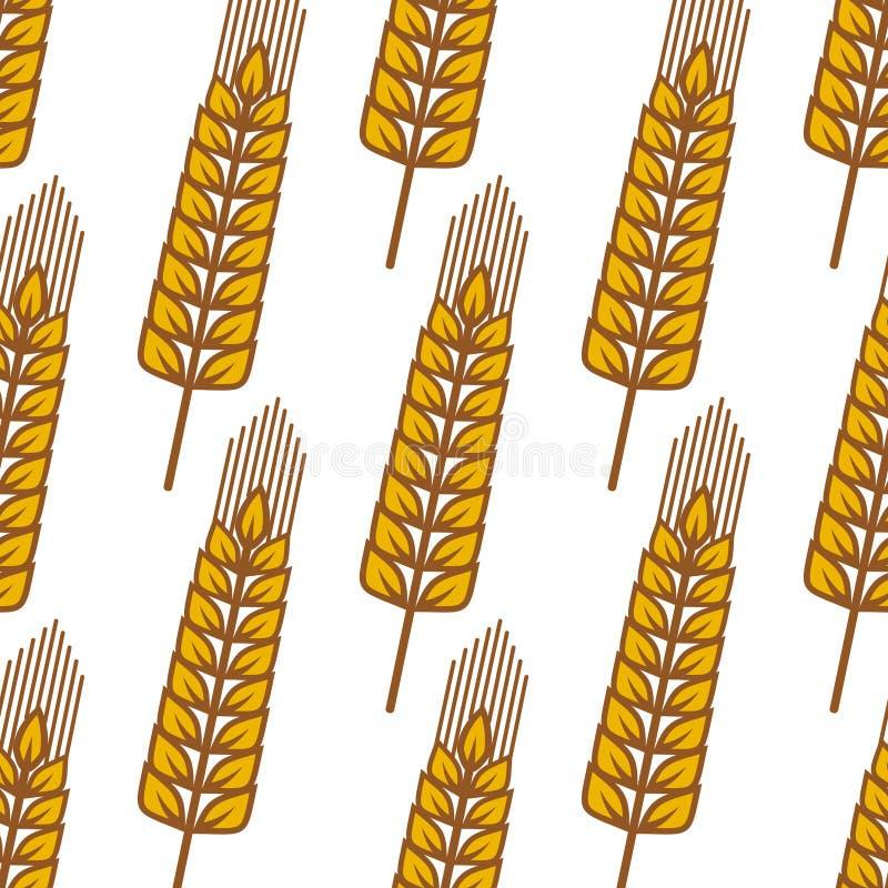 Das orelhas maduras do cereal dos desenhos animados teste padrão sem emenda ilustração royalty free