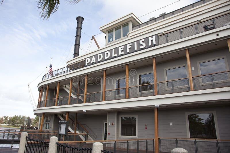 Das PaddleFish-Restaurant an Disney-Frühlingen lizenzfreie stockfotografie