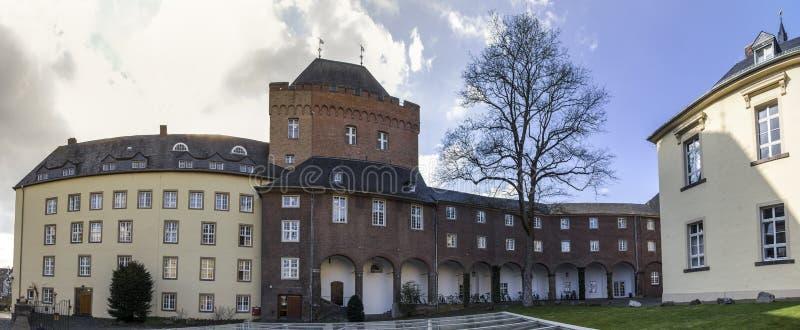 Das Panorama schwanenburg Schloss kleve Deutschland-hoher Auflösung lizenzfreie stockfotos