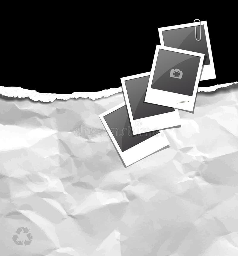 Das Papier, das auf Papier zerrissen wird, bereiten zerknittert auf vektor abbildung