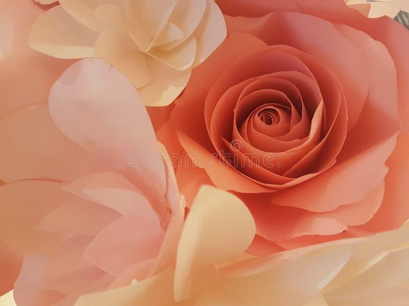 Das Papier Rose stockbild
