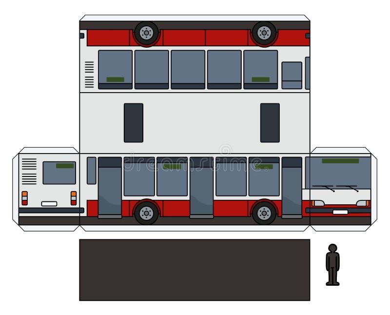 Das Papiermodell eines Stadtbusses lizenzfreie abbildung