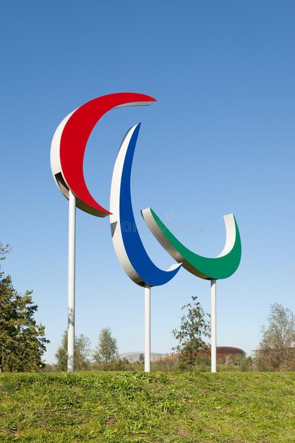 Das Paralympic-Spielsymbol stockfoto