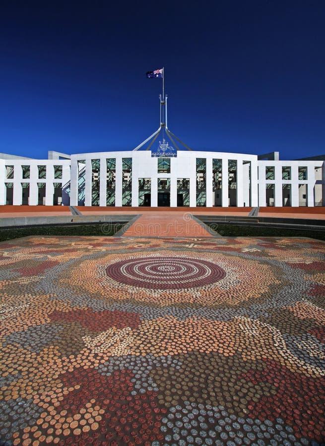 Das Parlament bringen in Canberra, Australien unter stockfoto