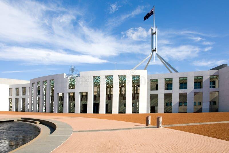 Das Parlament bringen, Canberra unter lizenzfreie stockbilder