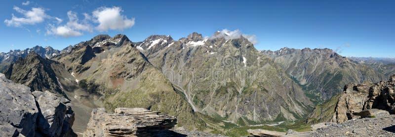 Das Pelvoux von der Spitze des La Blanche stockfoto