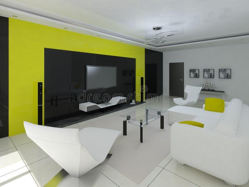 Download Das Perfekte Wohnzimmer Stock Abbildung. Illustration Von Leuchte    65898869