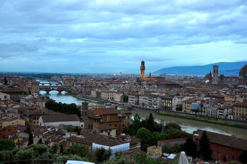 Das Ponte Vecchio in Florenz, Italien stockbild
