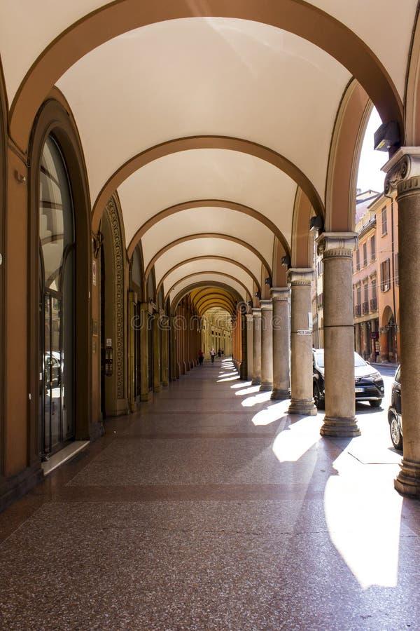 Das Porticoes von Bologna lizenzfreie stockfotos