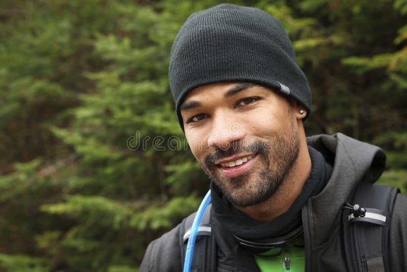 Das Porträt des Trekkers stockbild
