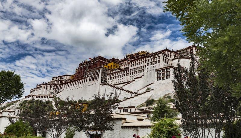 Das Potala-Palast in Lhasa, Tibet lizenzfreies stockfoto