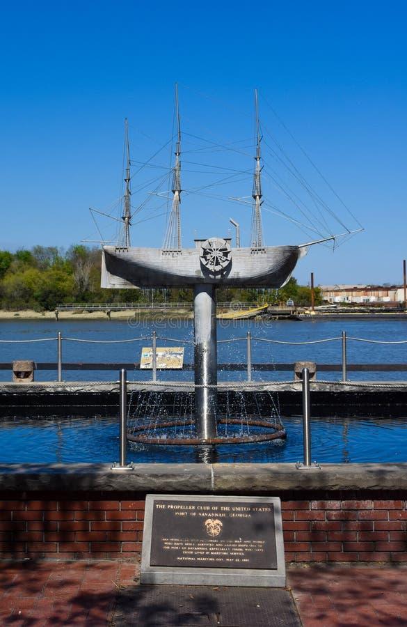 Das Propeller-Club-Denkmal, Savanne, GA lizenzfreie stockfotografie