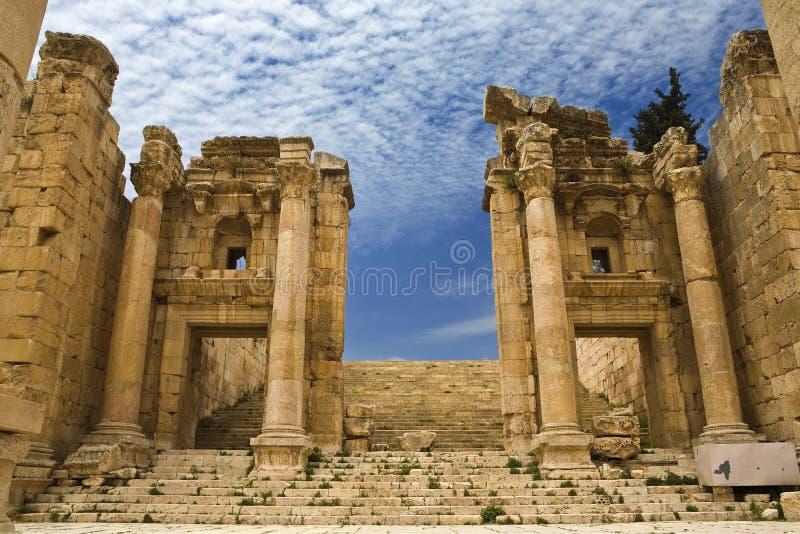 Das Propylaea in Jerash lizenzfreie stockfotografie