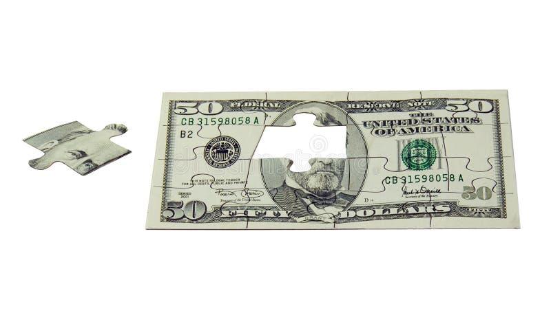 Das Puzzlespiel des Geldes stockfotografie
