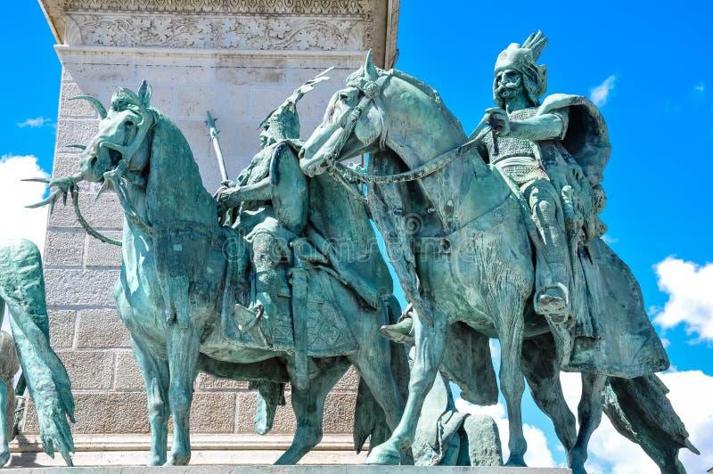 Das Quadrat der Helden in Budapest Ungarn stockfoto