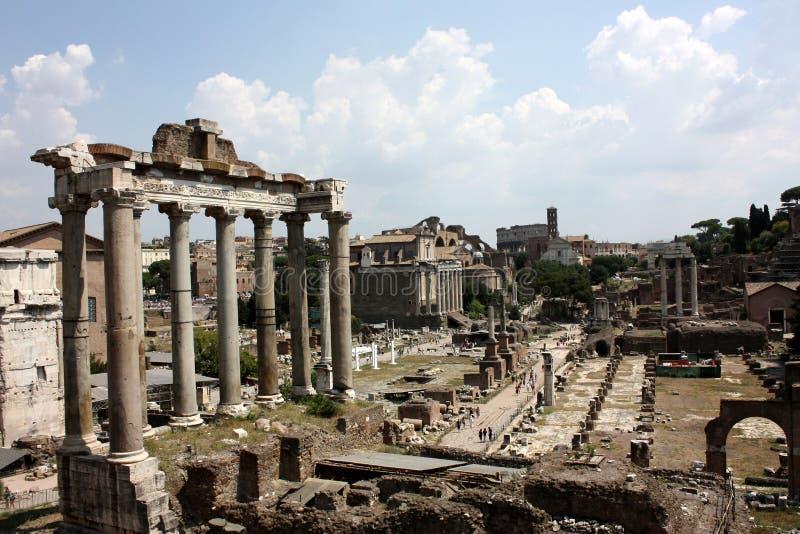 Das römische Forum, Rom lizenzfreie stockfotos
