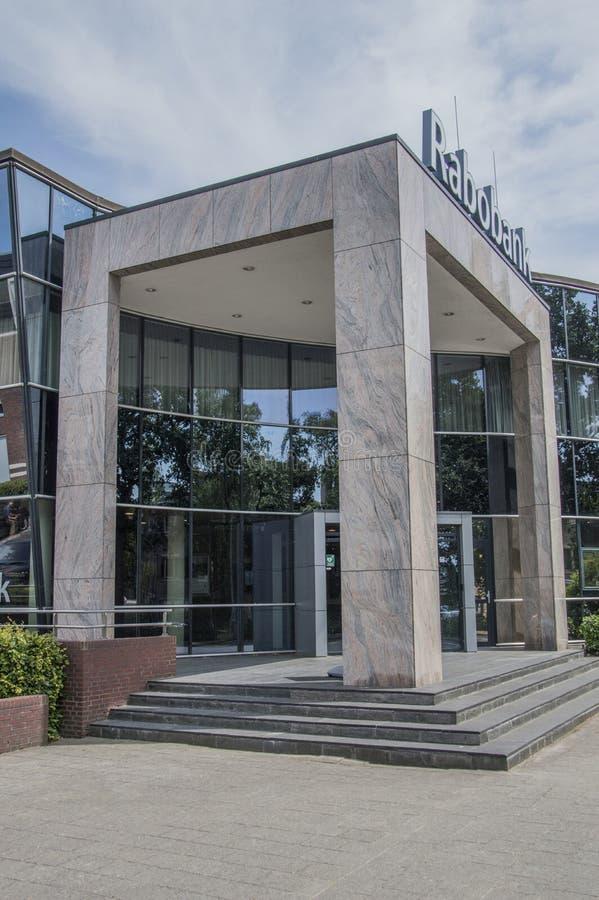 Das Rabobank bei Weesp die Niederlande lizenzfreie stockfotos
