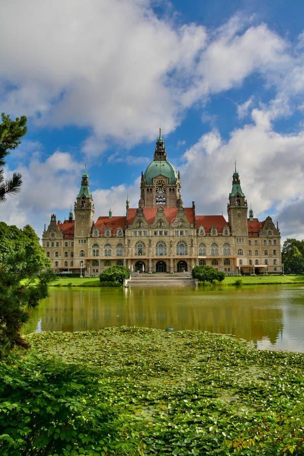 Das Rathaus von Hannover lizenzfreies stockfoto