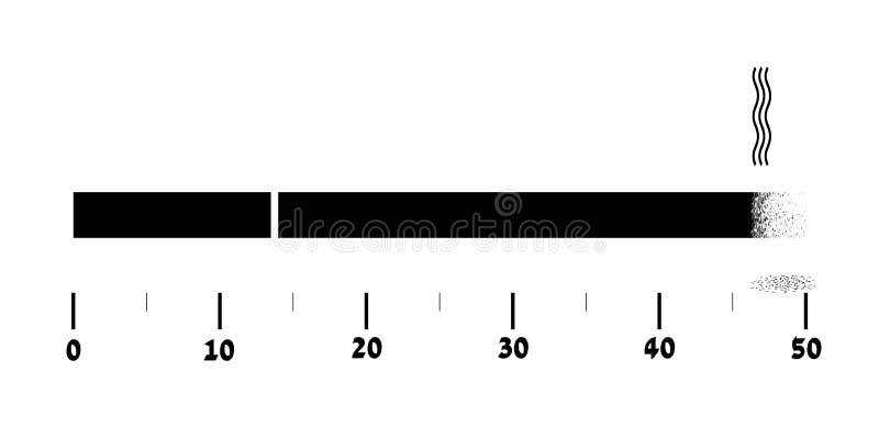 Das Rauchen kürzt Ihr Alter stock abbildung