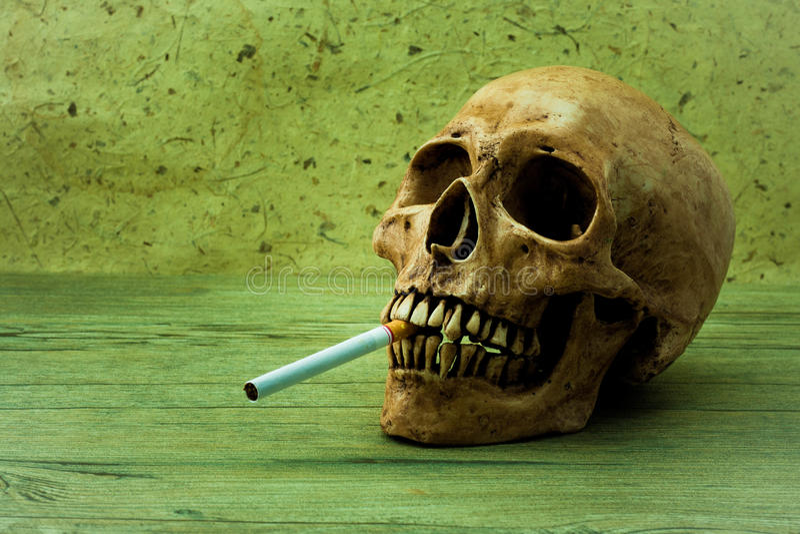 Das Rauchen kann Sie töten stockfoto