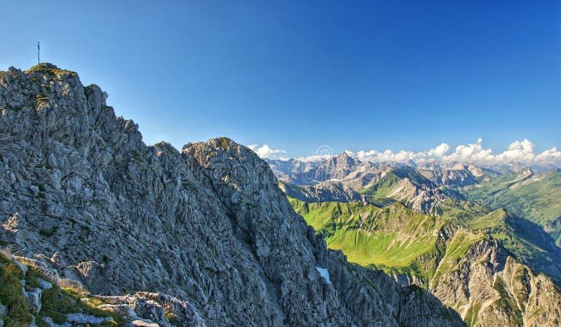 Das Rauhhorn in den Allgäu-Alpen lizenzfreie stockbilder