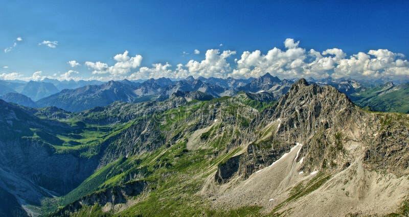 Das Rauhhorn in den Allgäu-Alpen stockbilder