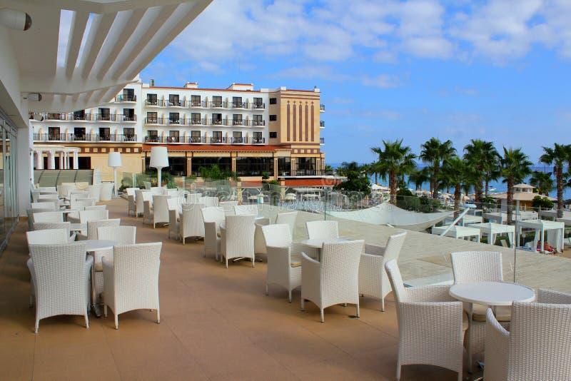 Das Restaurant wartet auf Besucher nach Zypern lizenzfreie stockbilder