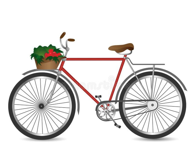 Das Retro- Fahrrad lizenzfreie abbildung