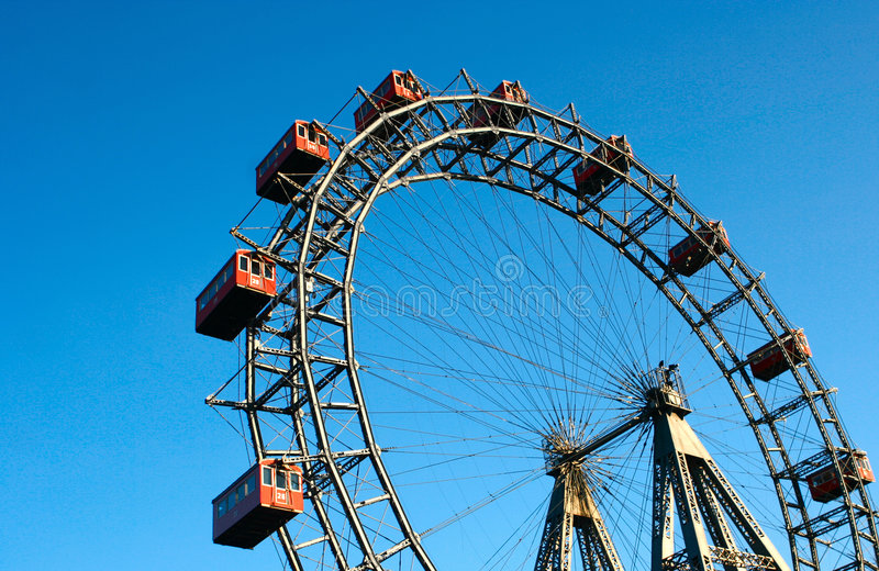 Das riesige Riesenrad stockfoto