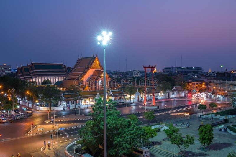 Das riesige Schwingen, nannte Sao Ching Cha während der Nachtzeit lizenzfreies stockfoto